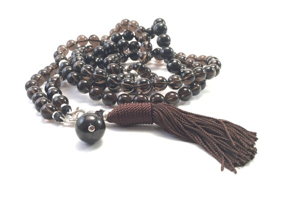 Image of Infinite Journey Smoky Quartz Mala