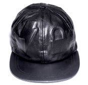 Image of Embossed leather hat