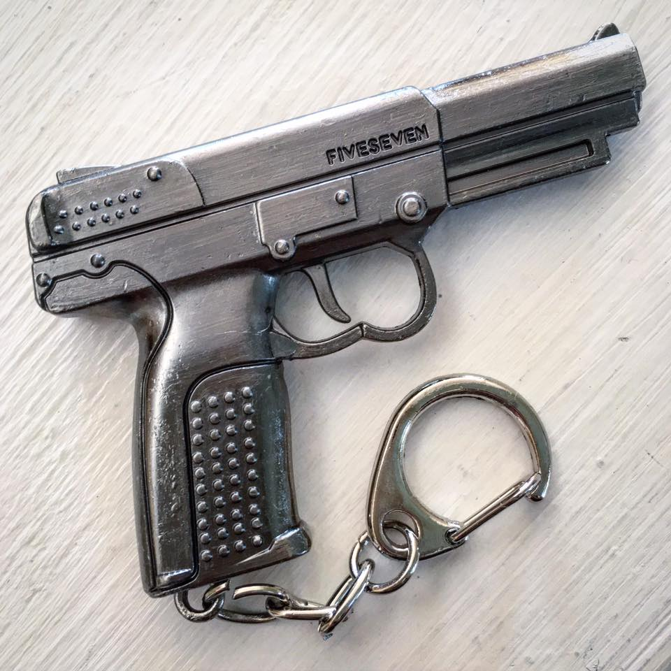 Image of Metal FN FiveSeven Keychain