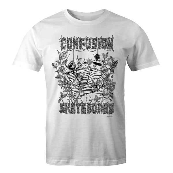 Image of Confusion - Spider Web Pool t-shirt [white]
