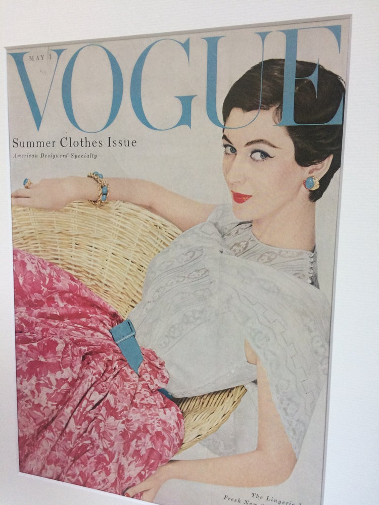 Image of Vogue Cover 1 May 1954 featuring Dovima
