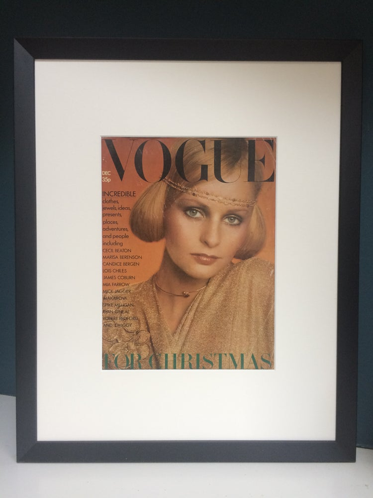 Image of Vogue Cover December 1973 by Barry Lategan