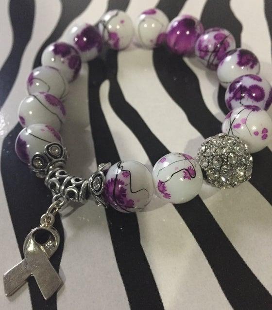 Image of Purple Awareness Bracelet 1