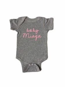 Image of NEW: Baby Minga Onesie Gray