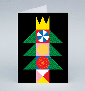 Image of King Tree Christmas card