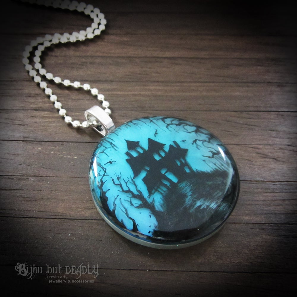 Image of Haunted House in Woods Pendant