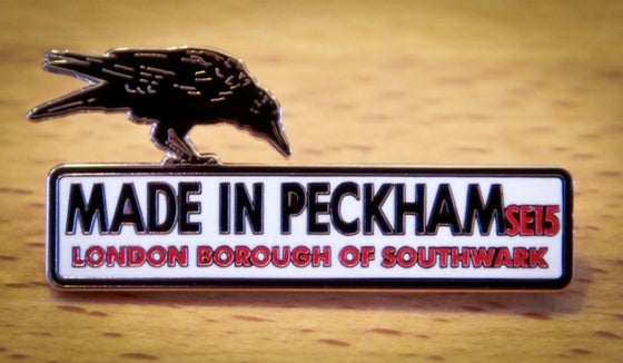 Image of Made in Peckham enamel brooch