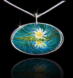 Image of White Lily Divine Light Energy Pendant