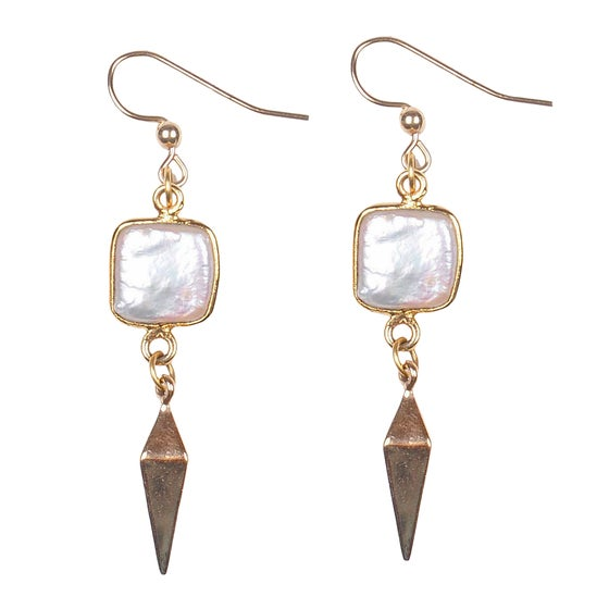 Image of MODERN PEARL EARRINGS