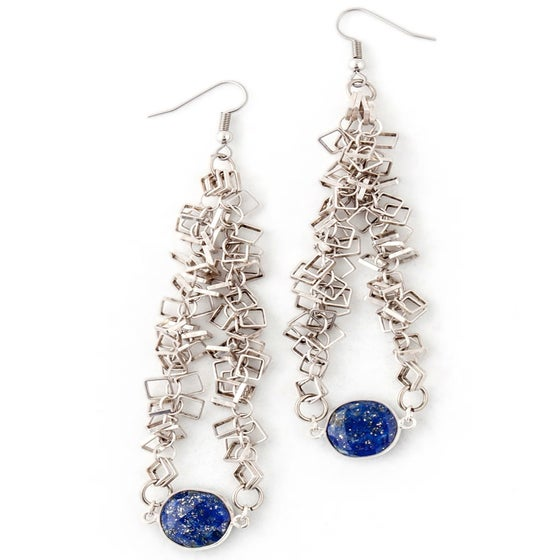 Image of DANCING LAPIS EARRINGS