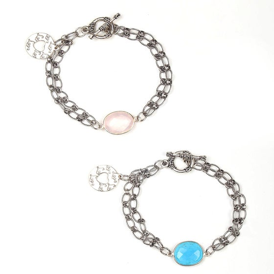 Image of CIRCLE OF LOVE CHARM BRACELETS