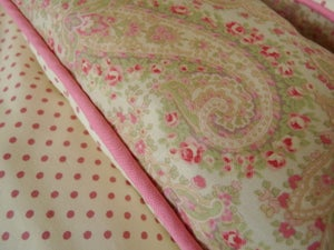 Image of Sweet Paisley In Pinks, Green and Cream Single Size Last One!