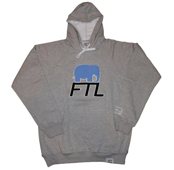 Image of FTLephant Pullover Hooded Sweatshirt (Grey)