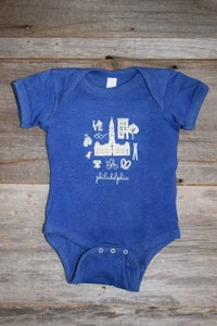 Image of Philadelphia Icon Blue Onesie