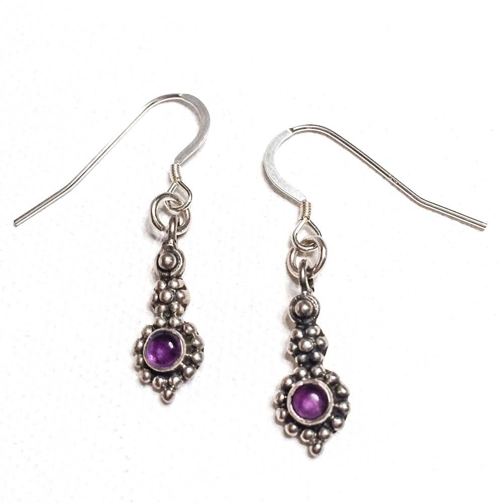 Image of AMETHYST RAINDROP EARRINGS