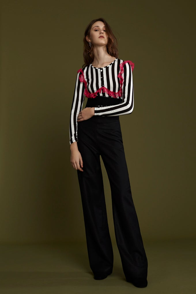 Image of FRAMPESCA WOOL PALAZZO TROUSERS