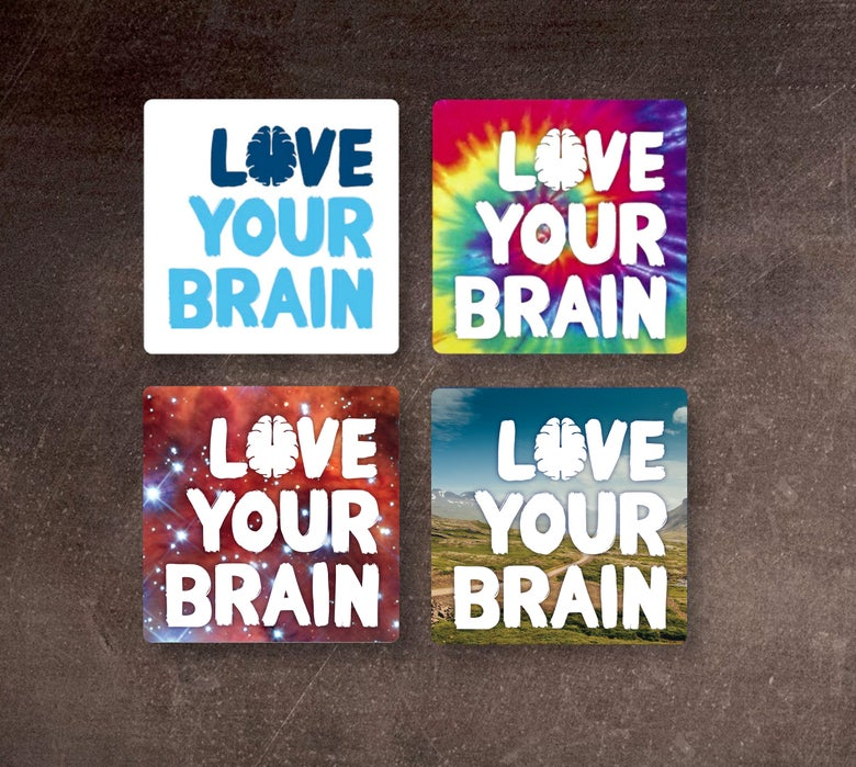Image of Love Your Brain Square Sticker