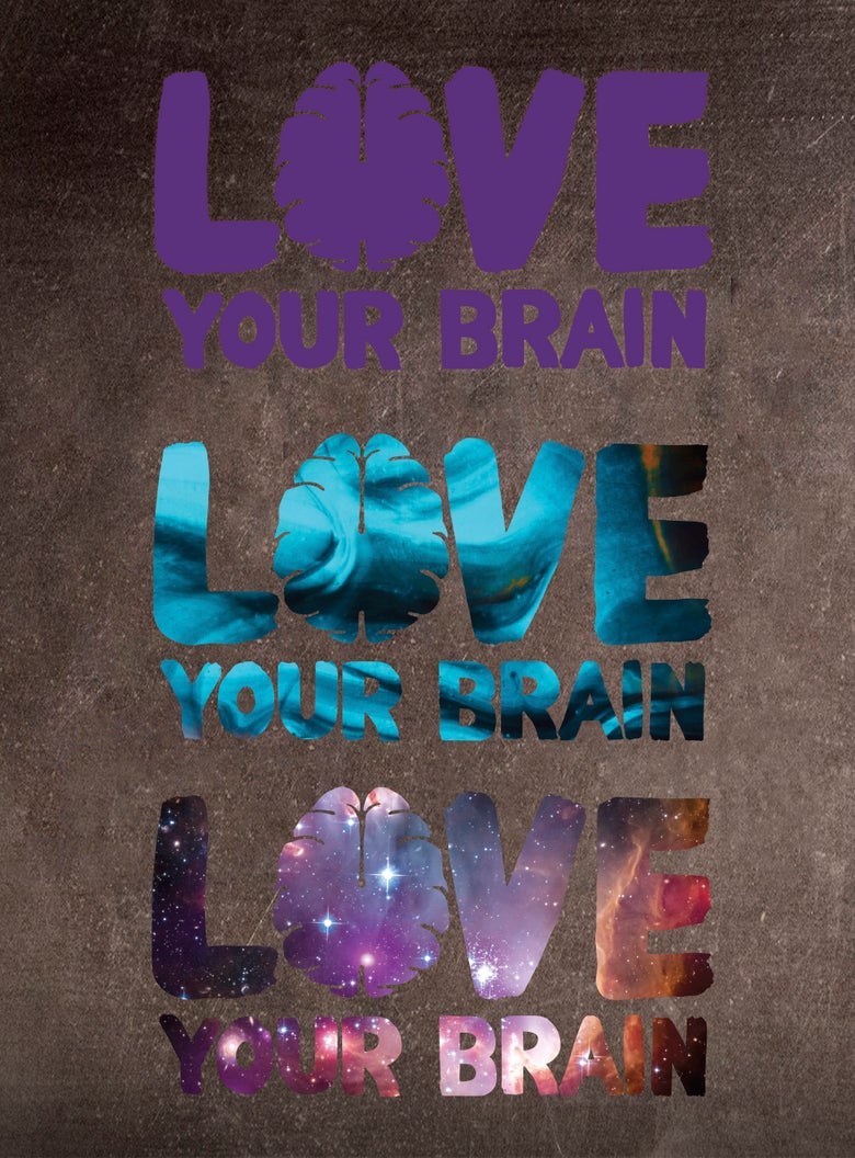 Image of LoveYourBrain Die Cut Sticker