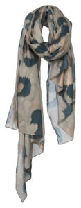 Image of YAYA Printed Scarf with Gold detail