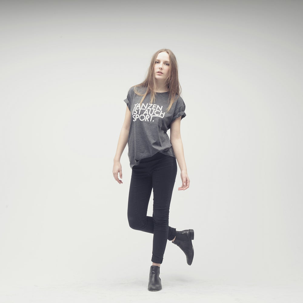 Image of Tanzen ist auch Sport / Grey T-Shirt (Unisex)