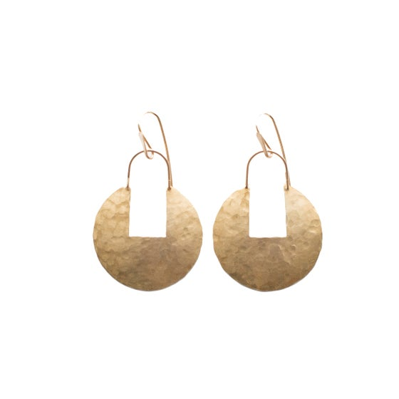 Image of Brass Medallion Earrings