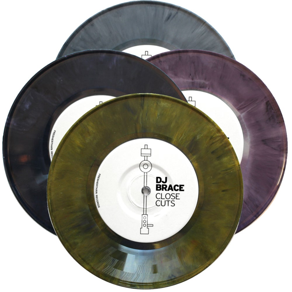 "Image of DJ BRACE - CLOSE CUTS 7"" (assorted limited colors)"