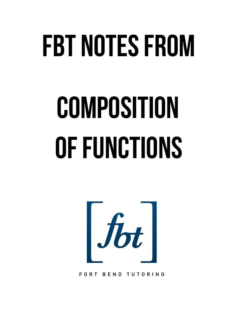 Image of Composition of Functions FBT YouTube Video Notes