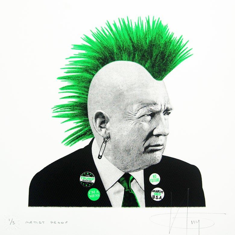 Image of TRUMP the PUNK... Vomit GREEN Neon
