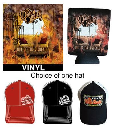 Image of Merch Package - Vinyl LP, Hat and Koozie