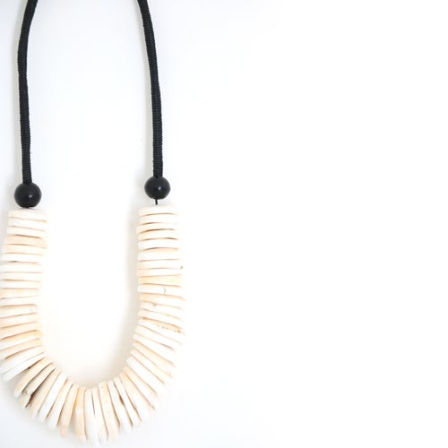 Image of Conch Disc Shell Necklace