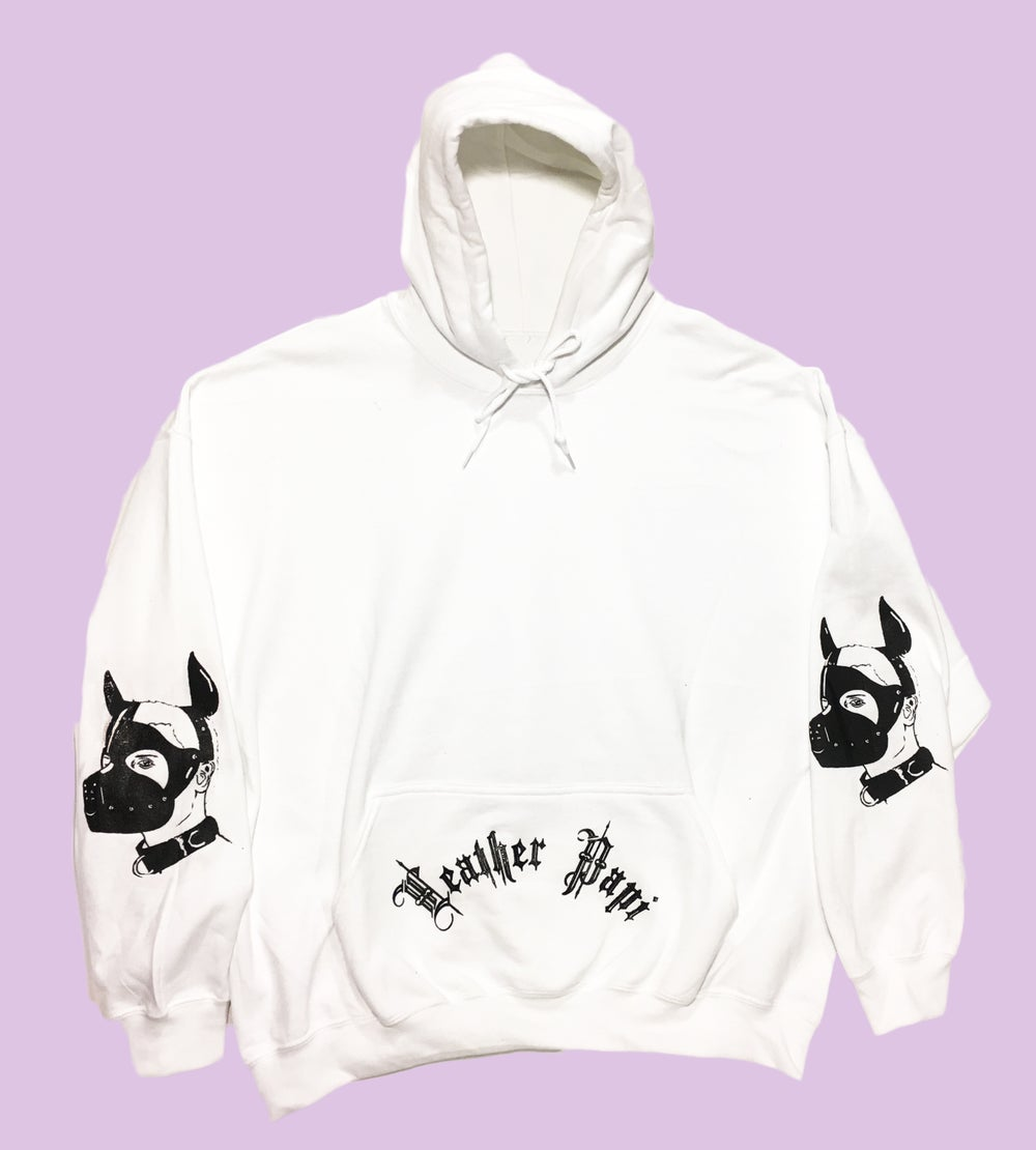Image of Leather Puppy Hoodie