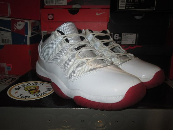 """Air Jordan XI (11) Retro Low """"White/Red"""" GS *PRE-OWNED* - areaGS - KIDS SIZE ONLY"""