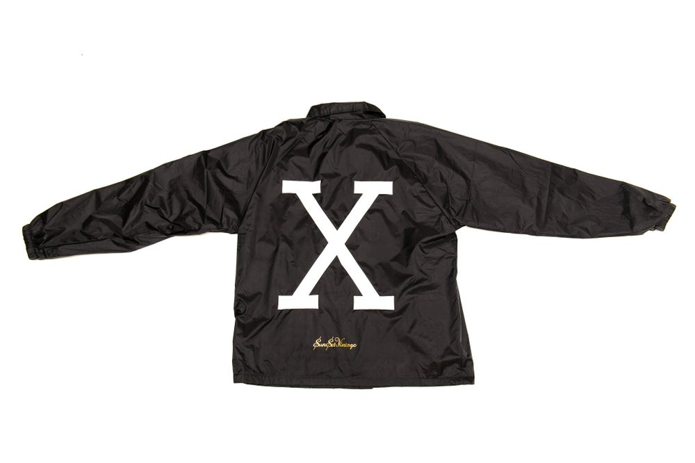 Image of X Retro Fraternity Jacket - Black