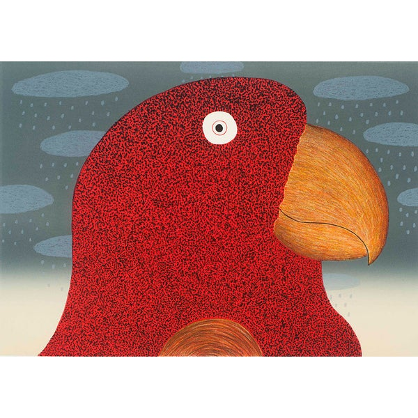 Image of Smiling Parrot - Lithograph