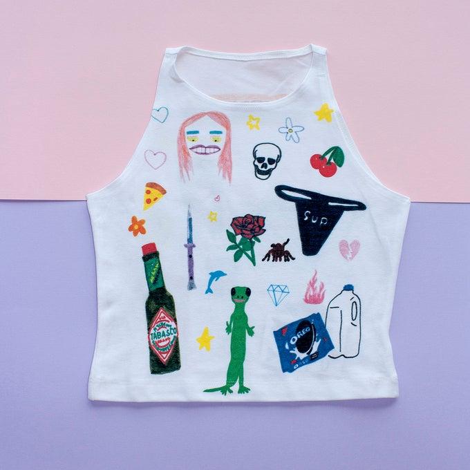 Image of Art Baby Girl Crop Top