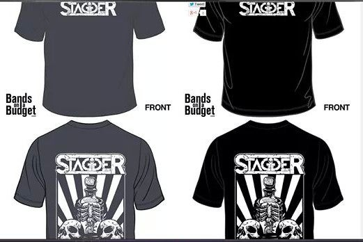 Image of Stagger Logo Mens T'shirts