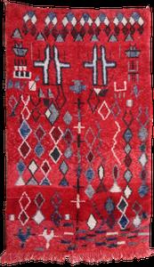 Image of 100% Wool Tribal Boujad Rug - 260 cm x 160cm