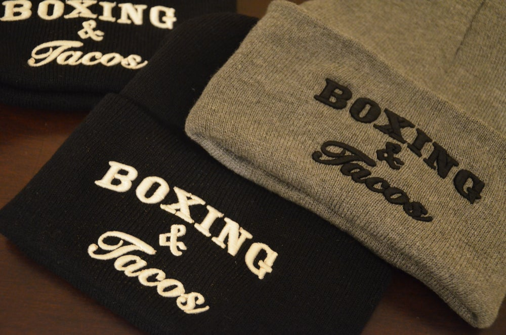 Image of Boxing & Tacos unisex Beanies