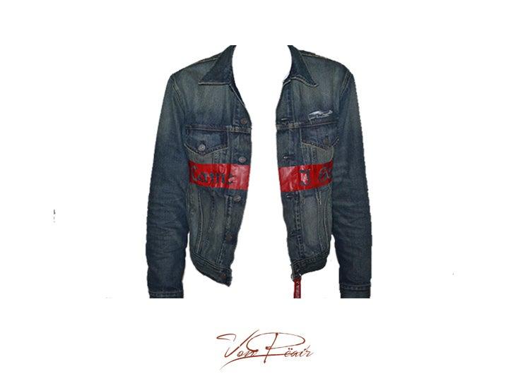 Image of Art Of War : Acid Washed Denim Jacket