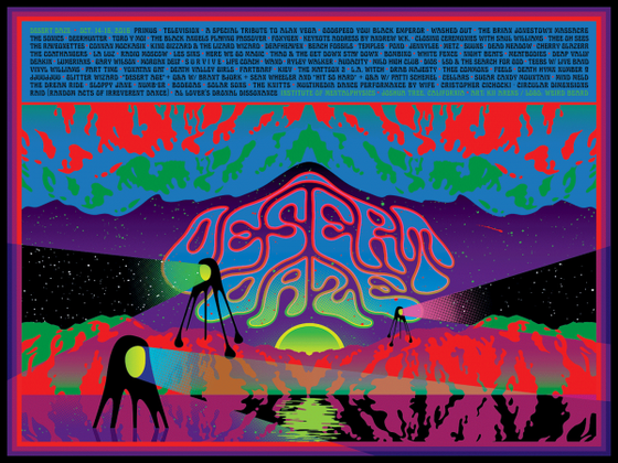 Image of Desert Daze Line Up Poster by Kii Arens
