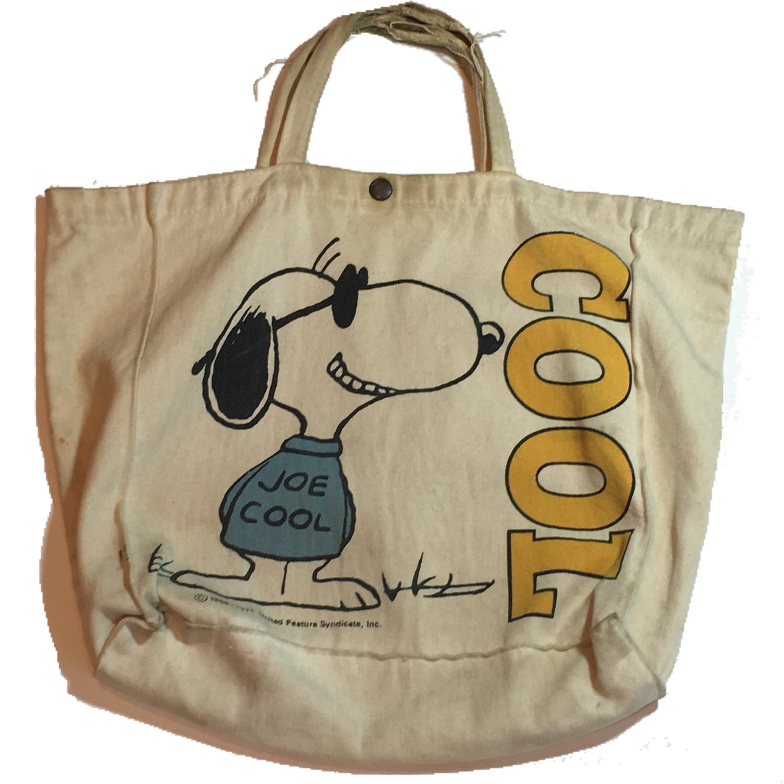 Image of Joe cool snoopy tote bag