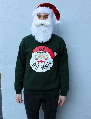 Image of SALE- Printed Hail Santa Sweaters