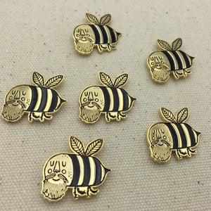 Image of Beesus Loves You Enamel Pin