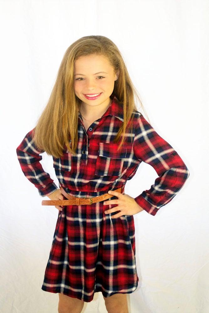 Image of Fall into Plaid Dress