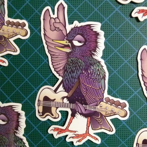 Image of Rock Starling Vinyl Sticker