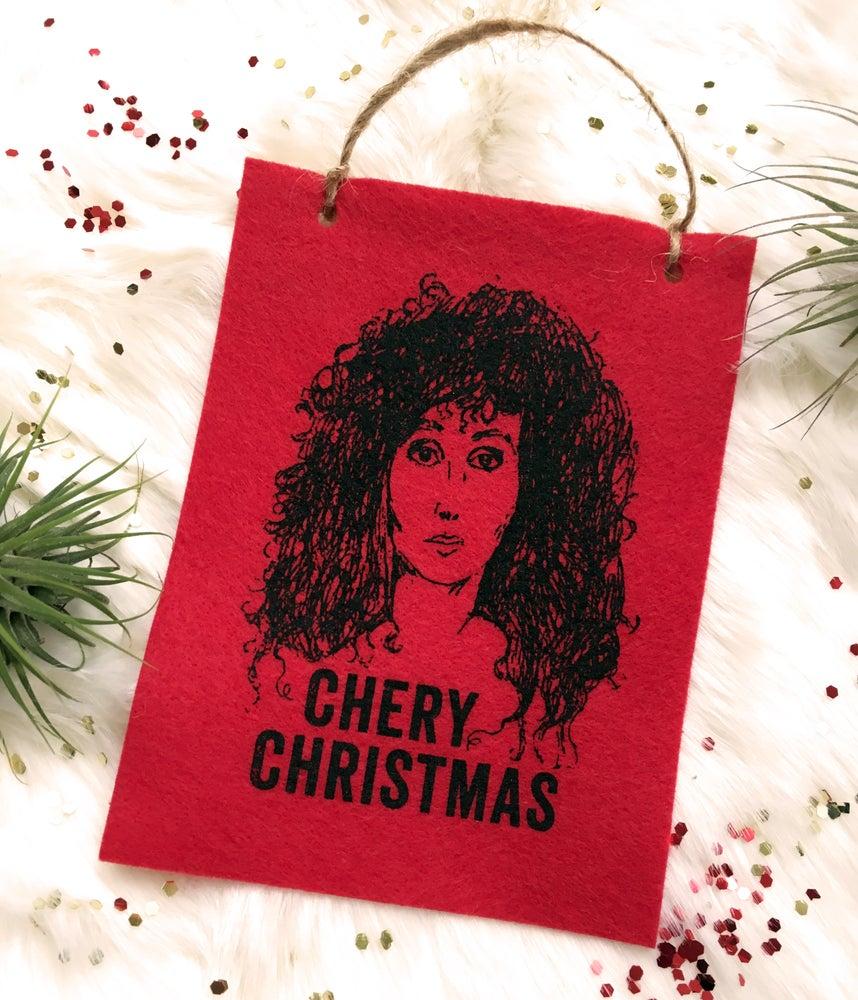 Image of Chery Christmas Ornament /Mini Banner