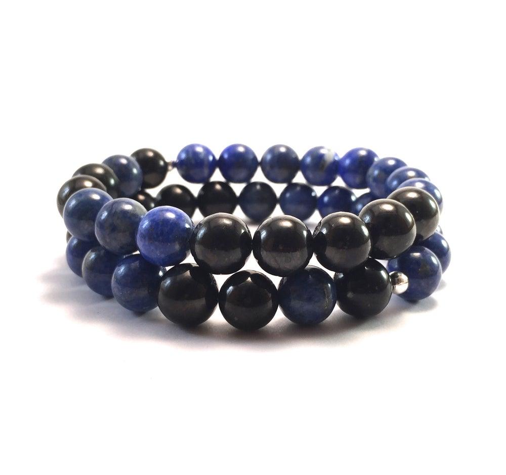 Image of New! Men's Infinity Lapis Lazuli & Shungite