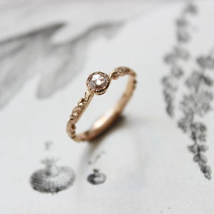 Image of 18ct Rose Gold 3.9mm ROSE CUT DIAMOND RING (IOW37)