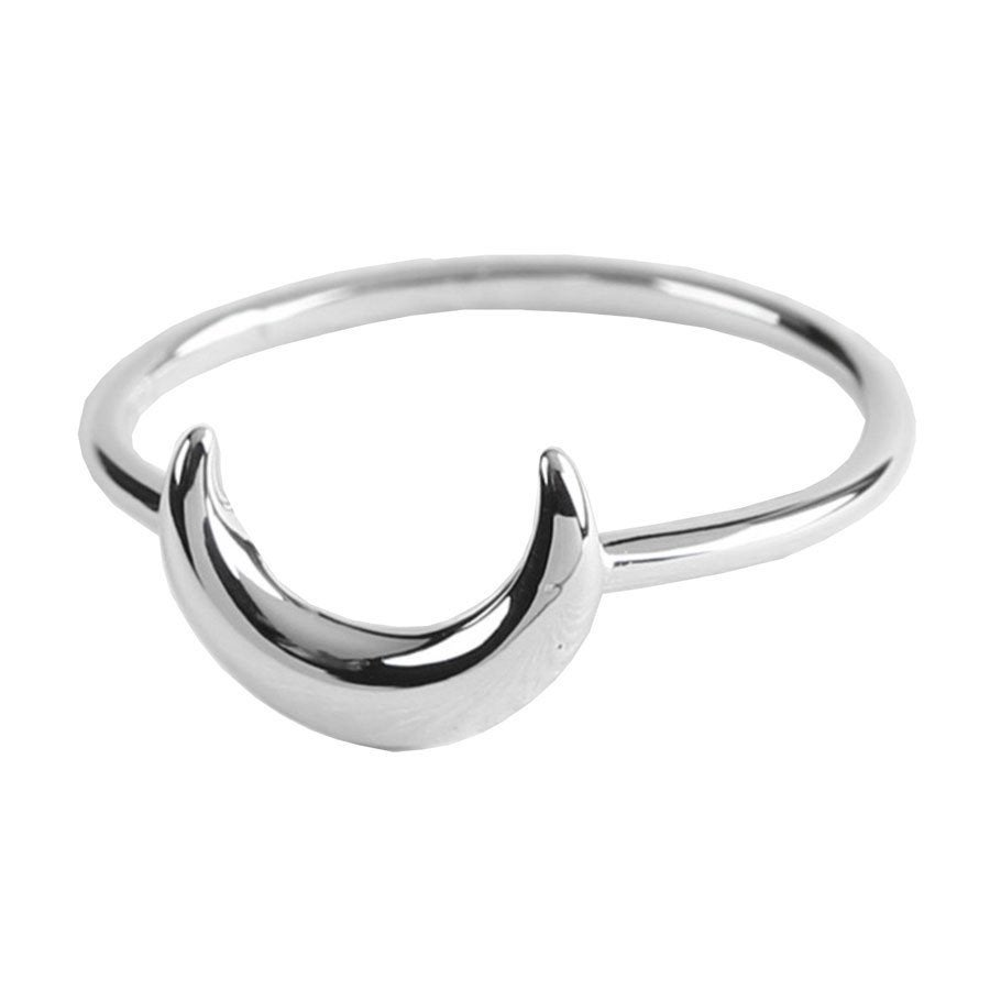 Image of Sterling Silver Moon Ring
