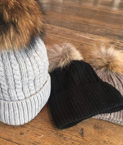 Image of Pompom knitted beanie